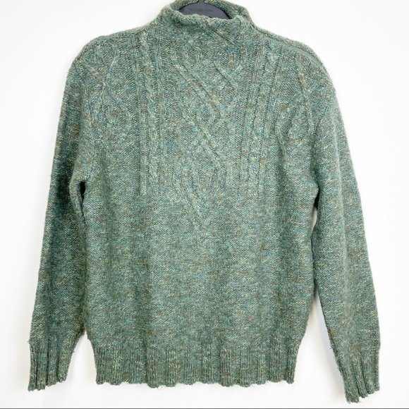 Vintage Green Marled Wool and Mohair Sweater